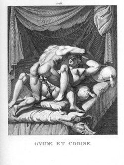 Ovídio e Corina, por Agostino Carracci, séc XVI