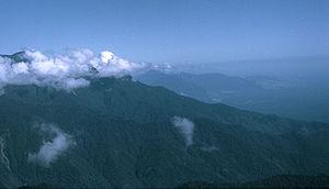 Owen Stanley Range - Jungle clad mountains of the Owen Stanley Range in Central Papua New Guinea.