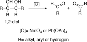 Alcohol oxidation - Oxidative breakage of carbon-carbon bond in 1,2-diols