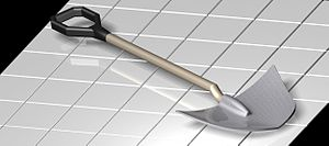 Solid Edge - Shovel created on Solid Edge