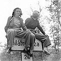 Páros fotó 1955, Mátraháza előtt a 24-es úton. Fortepan 7347.jpg