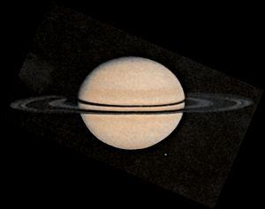 Exploration of Saturn - Pioneer 11 image of Saturn.