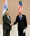 PM Modi and Malaysian PM Najib Razak at Nay Pyi Taw, Myanmar.jpg