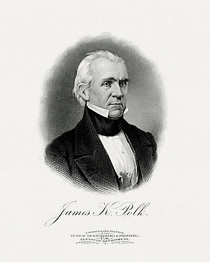 Inauguration of James K. Polk - Image: POLK, James President (BEP engraved portrait)