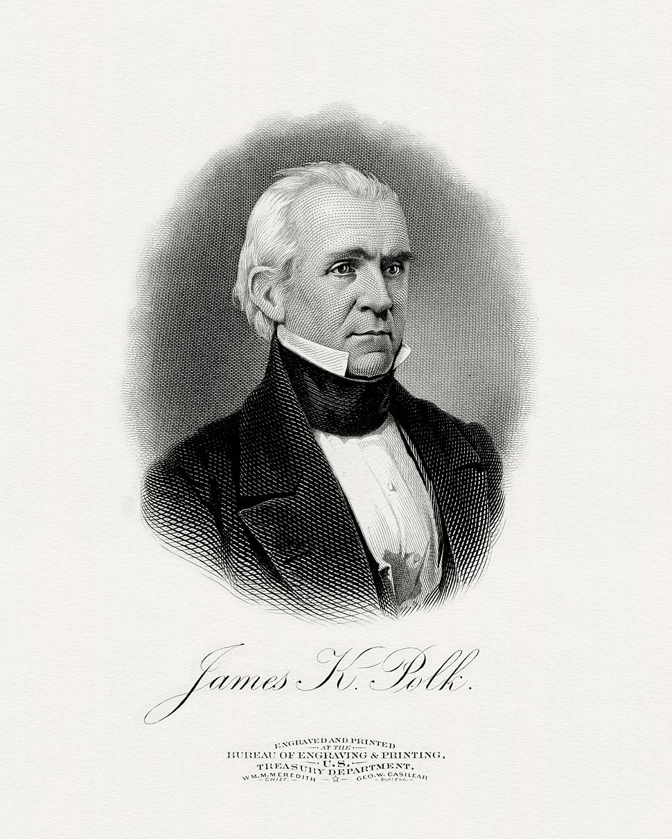 POLK, James-President (BEP engraved portrait)