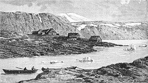 Upernavik Archipelago - View of Upernavik in 1890.