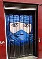 Painted door at Rua de Santa Maria 14 (Funchal) (38066322122).jpg