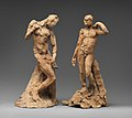 Pair of Standing Nude Male Figures Demonstrating the Principles of Contrapposto according to Michelangelo and Phidias MET DP-13617-050.jpg