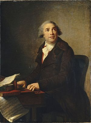 Giovanni Paisiello - Paisiello at the clavichord, by Marie Louise Élisabeth Vigée-Lebrun, 1791. The score is Nina, o sia La pazza per amore.