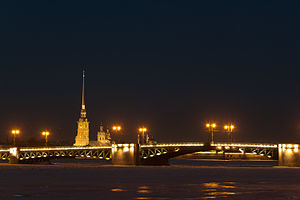 Peter and Paul Fortress - Palace Bridge and 'Peter and Paul' fortress