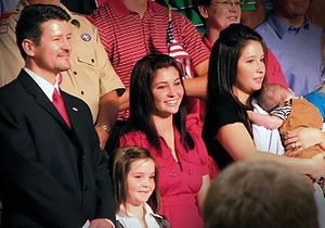 Sarah Palin's family at the announcement of Sa...