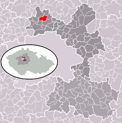Location in Prague-East District