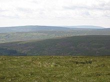 Panorama from the summit of Killhope Law (13, S - five horizons) - geograph.org.uk - 1451574.jpg