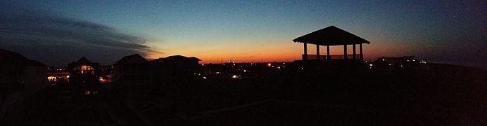 Panorama of Kill Devil Hills at Night