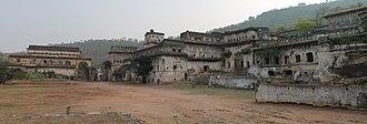 Ajaigarh - Image: Panoramic view of Ajaygarh Palace