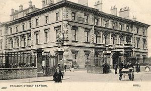 Hull Paragon Interchange - Station Hotel, with original porte-cochère entrance