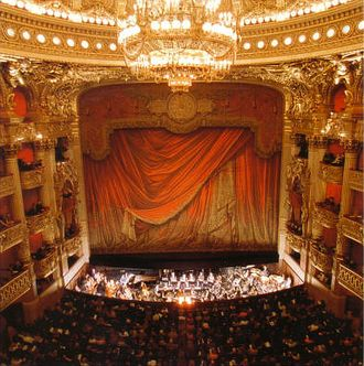 Paris Opera - The Palais Garnier opera house hall, Paris