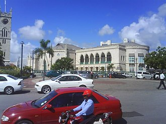 Parliament Buildings (Barbados) - The east-wing of the Parliament of Barbados, completed in 1873.