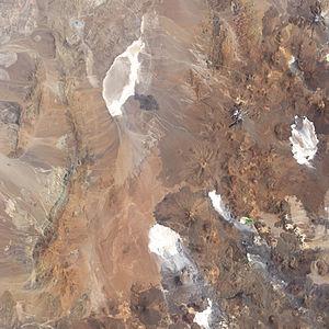Llullaillaco National Park - Satellite image of Parque Nacional Llullaillaco.