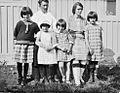 Pastor Peter Rosing with his wife and daughters Angmagssalik 1930 Svend Peter Kristian Rosing.jpg