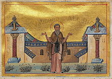 Patapios of Thebes (Menologion of Basil II).jpg