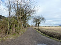 Path at end of Bleak Lane, Hoscar Moss (geograph 4357727).jpg