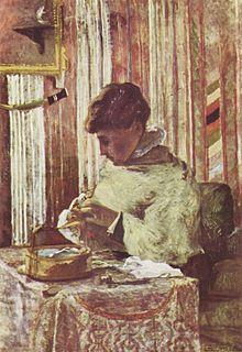 Miette Gauguin che cuce, olio su tela, 116x81 cm, 1878, collezione privata.