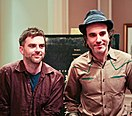 Paul Thomas Anderson (links) und Daniel Day-Lewis 2008