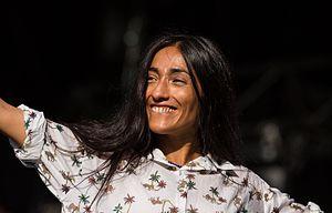 Hindi Zahra - Moroccan singer Hindi Zahra at Pause Guitare, in July, 2015.