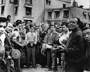 Mohani - Paya procession in Lhasa, ca. 1950s