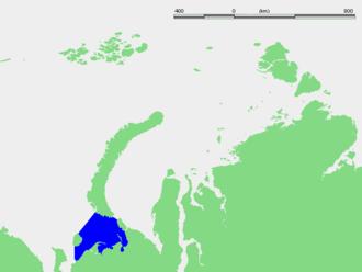 Pechora Sea - Location of the Pechora Sea.