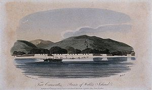 Engraving of Fort Cornwallis in 1804
