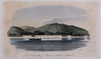 Fort Cornwallis - Engraving of Fort Cornwallis in 1804.
