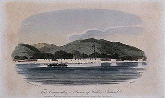 Fort Cornwallis - Image: Penang Museum historical painting N164b