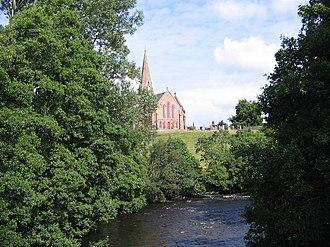 Scaur Water - Scaur Water and Penpont Parish Church.