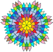 Pentagonal tiling with 7-fold rotational symmetry.png