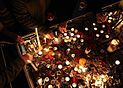 People lights candles for firefighters involved in Plasco building collapse 03.jpg