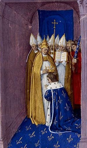 Pepin the Short - Coronation in 751 of Pepin the Short by Boniface, Archbishop of Mainz