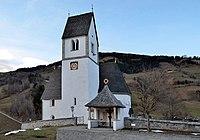 Pfarrkirche hl. Margaretha 15, Eschenau (municipality Taxenbach) and war memorial.jpg