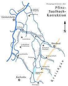 Hauptgewässer der Pfinz-Saalbach-Korrektion - Quelle: Wikipedia
