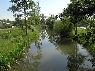 Pfinz River in Germany
