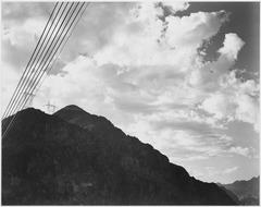 Photograph Looking Toward Mountain With Boulder Dam Transmission Lines, 1941 - NARA - 519844.tif