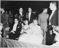 Photograph of Margaret Truman with others at the Inaugural Ball, held at the National Guard Armory in Washington. - NARA - 200072.tif