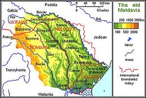Moldavian Plateau - The ancient principality of Moldavia comprised the entire Moldavian Plateau and some neighbouring geomorphological units like the Carpathians