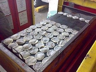 Piaya (food) - Image: Piaya baking on a grill