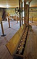 Pickwick Mill interior 01–wooden tooth screw auger.jpg