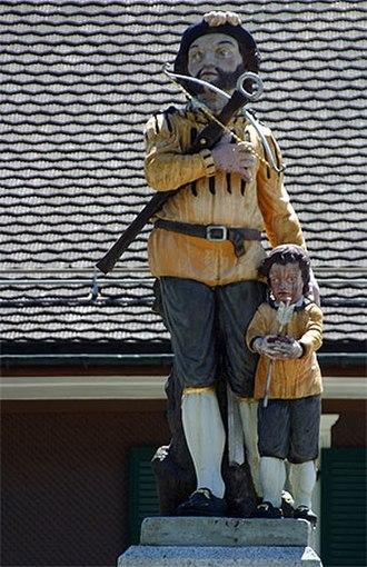 Bürglen, Uri - William Tell monument in Bürglen