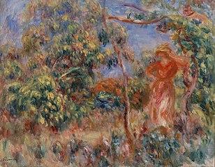 Woman in Red in a Landscape (Femme en rouge dans un paysage)