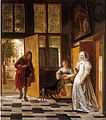 Pieter de Hooch - A Woman receiving a Man in the Doorway.jpg