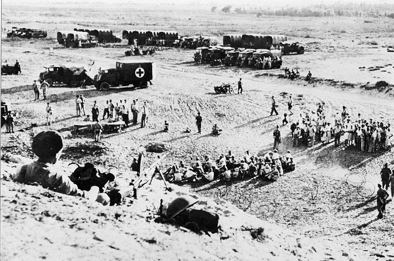 הצבא הבריטי בחיפושים בשדות ים